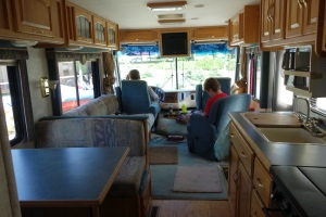 this view is only PART WAY back the 33' length of our RV interior...